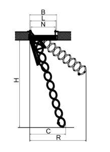 Металическая огнестойкая лестница Fakro LSF