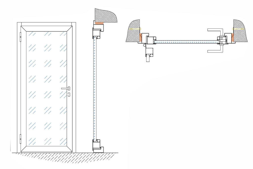 монтажная схема железных дверей